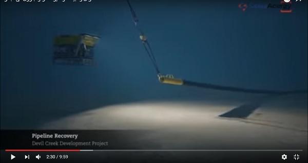 شاهد بالفيديو كيف يتم انزال وتركيب مواسير البترول والغاز فى أعماق البحر