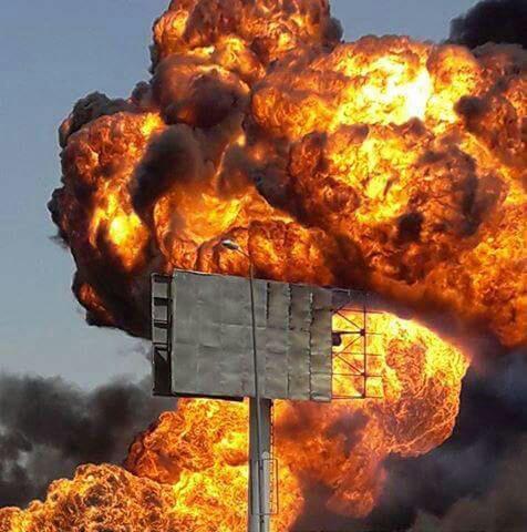 لحظة انفجار خط بوتاجاز مستودعات القطامية بالتجمع الخامس
