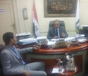 عادل رجب ورأفت إبراهيم رئيس تحرير الوكالة