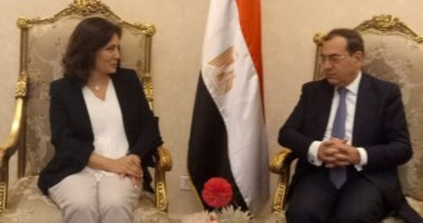 وزير البترول يستقبل وزيرة الطاقة والأردنية لبحث التعاون بين البلدين