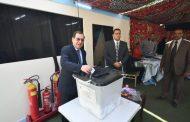 بالفيديو و الصور..وزير البترول يدلى بصوته فى التعديلات الدستورية بلجنة جراج ماسبيرو