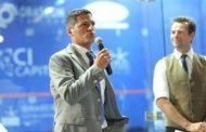 عمرو منسي ونور الشربيني يشهدان توزيع الجوائز ببطولة الجونة للرواد للأسكواش