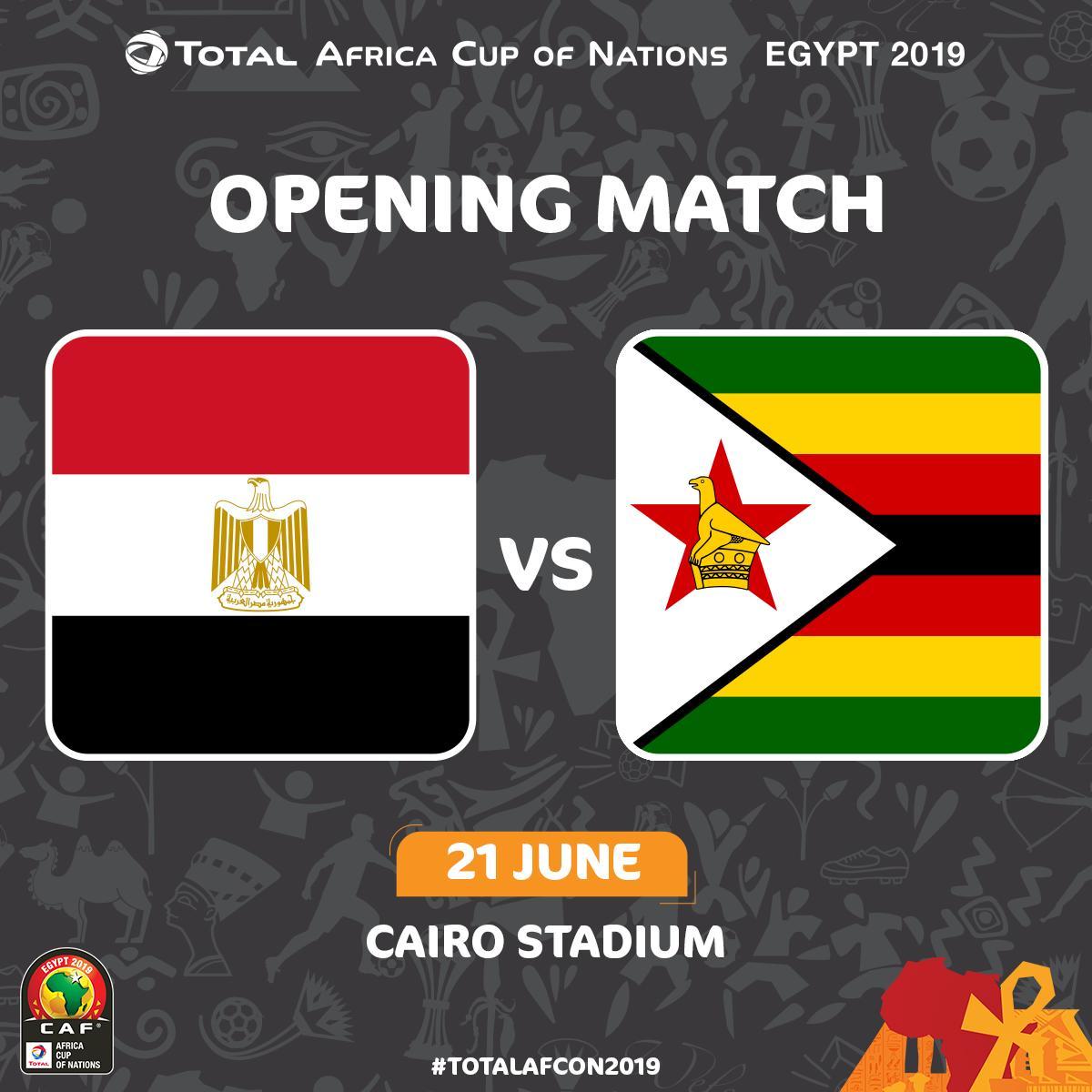 مصر تواجه زيمبابوى فى افتتاح كأس امم افريقيا