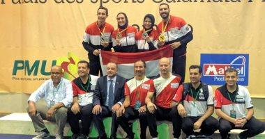 صور.. ذهبية وفضيتان وبرونزية حصيلة مصر فى أول أيام بطولة أفريقيا للسلاح