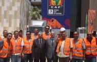 وزير الكهرباء يتابع استعدادات استاد القاهرة لاستضافة أمم أفريقيا