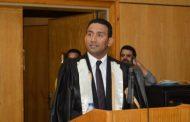 رأفت إبراهيم رئيس تحرير وكالة أنباء البترول يهنىء محمد عماد بالأمانة العامة لوزارة الطيران لحصولة على الدكتوراة