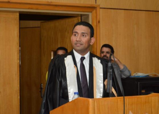 الدكتور محمد عماد بالأمانة العامة لوزارة الطيران يحصل الدكتوراة فى الحماية القضائية للعامل